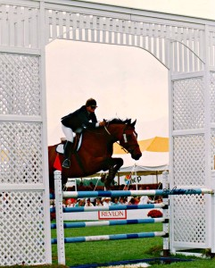 Barry Lane and Asterix at the 1990 Hampton Classic Horse Show